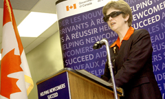 Federal Human Resources Minister Diane Finley