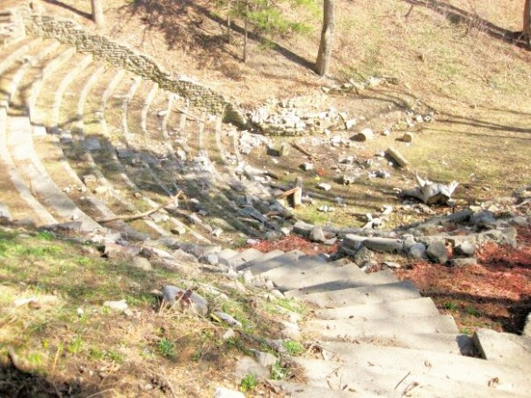 Vandals take their toll on Alma amphitheatre