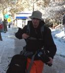 Jason McComb departs St. Thomas city hall shortly after 8:30 on Nov. 12, 2013.