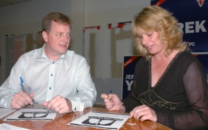 MPP Jeff Yurek and Sandra Gibbons