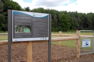 Off-leash park at Dan Patterson Conservation Area, north of St. Thomas.