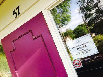 Walnut Manor - food services closed signjpg