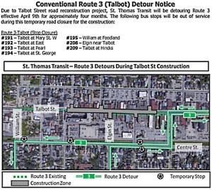 Transit Route 3 detourjpg