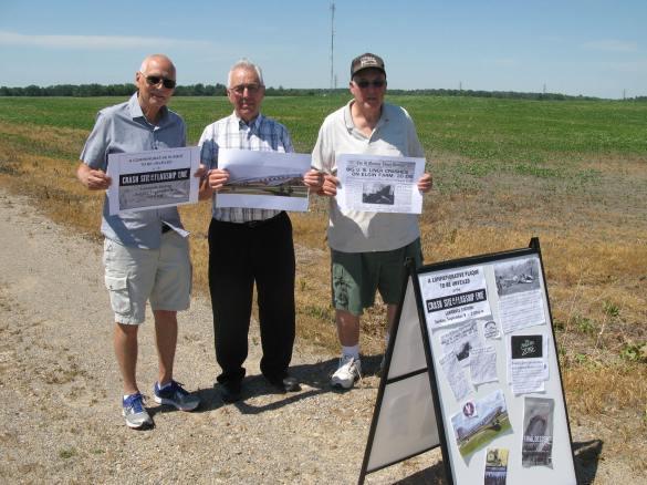 Lawrence Station crash site group