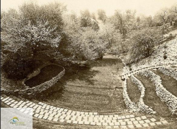 Alma College amphitheatre 1931