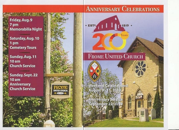 Frome United Church anniversary