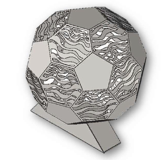 Soccer ball sculpturejpg