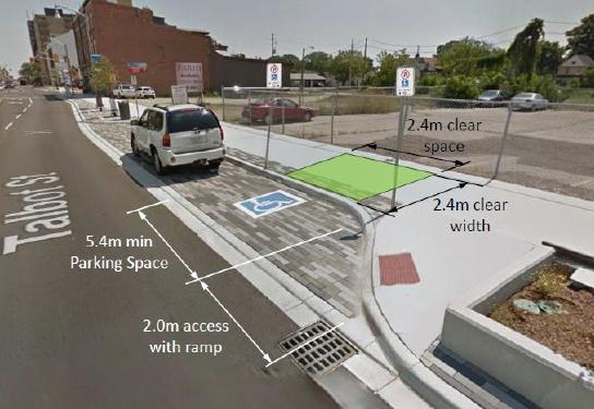 Talbot Street handicap parking
