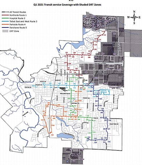 St. Thomas Transit Q1 2020 transit coverage