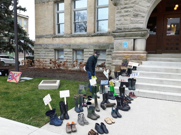 Boot protest re conservation authorities