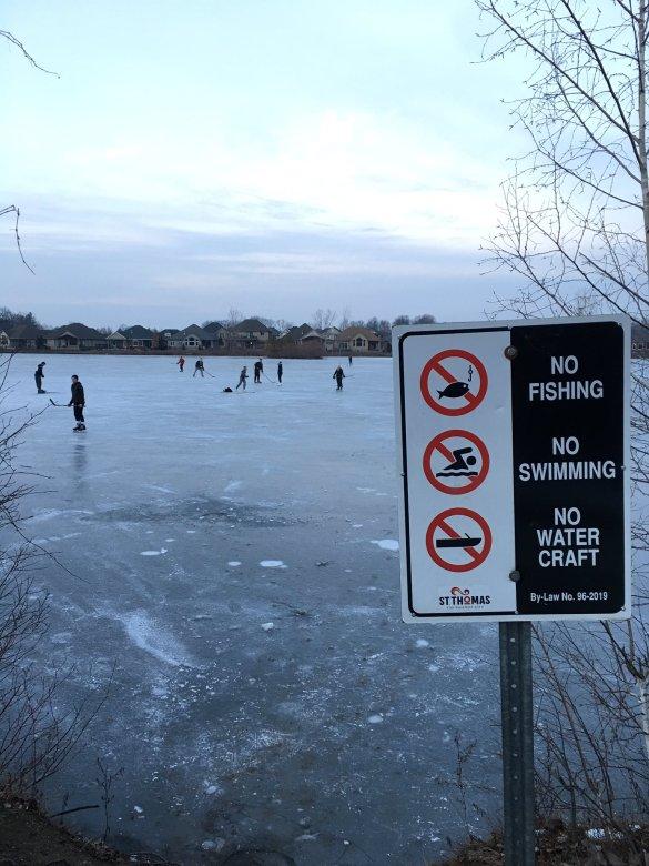 Lake Margaret sign