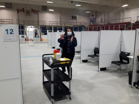 Memorial Arena vaccination 1