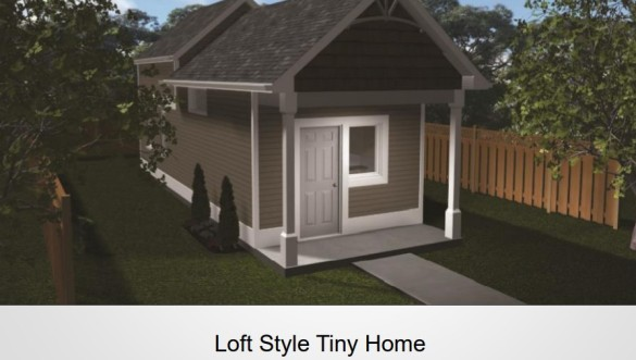 Project Tiny Hope loft style home
