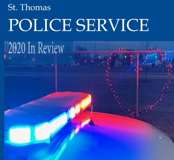 St. Thomas Police Service 2020 Annual Report cover