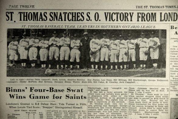St. Thomas baseball team