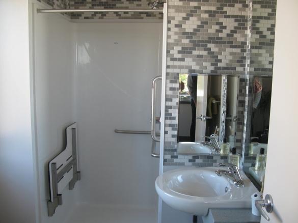Indwell Railway City Lofts bathroom